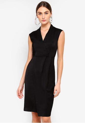 FORCAST black Aileen V-Neck Dress E1080AA0CC6EA1GS_1