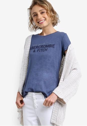 品牌文字印花夏日短袖TEE,esprit 香港 outlet 服飾, 上衣