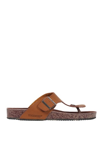 Tendencies brown Tendencies FOOTBED SANDALS TAN 6BD17SH1E57842GS_1