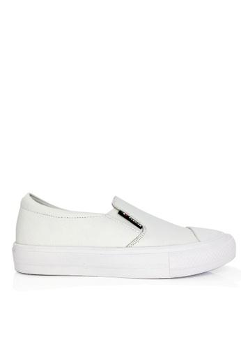 Twenty Eight Shoes white Real Leather Platform Slip On VL9060 TW446SH2UQ7OHK_1