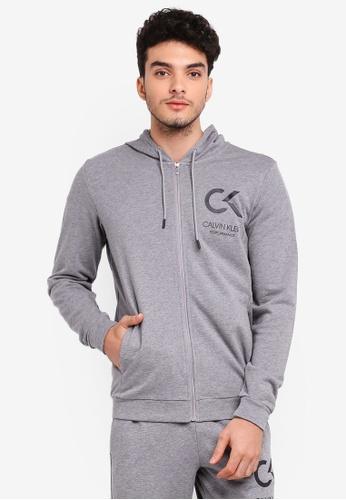 Calvin Klein 灰色 Icon Terry Hoodie 5FDDEAA261BAA1GS_1