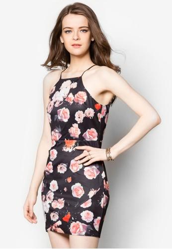 Ceci印花連身裙, 服飾zalora開箱, 服飾