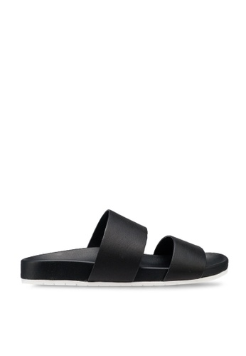 Who What Wear Albany Quarter Strap Sandal Black NWT