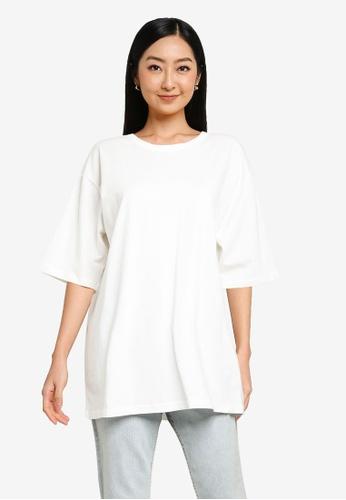 Heather white Casual T-Shirt C1E34AA9FBD7E4GS_1