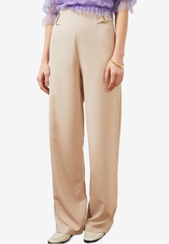 Trendyol beige Stone Pants 8A12FAAC0C66A0GS_1