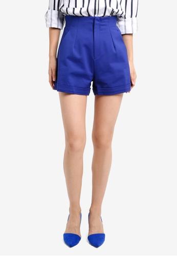 ZALORA blue Studio High Waisted Shorts 1F498AA052C29AGS_1