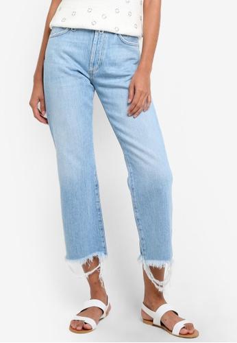 Mango blue Sea Straight Jeans MA193AA14BYNMY_1