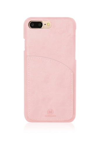 Monocozzi EXQUISITE Genuine Leather Case with Pocket for iPhone 7 Plus - Coral MO983AC55IPGHK_1