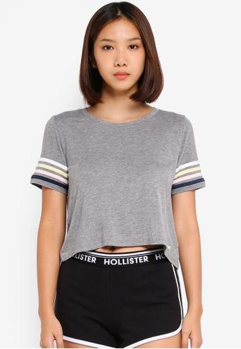 Hollister 灰色 短袖短版上衣 691D0AABC534FEGS_1