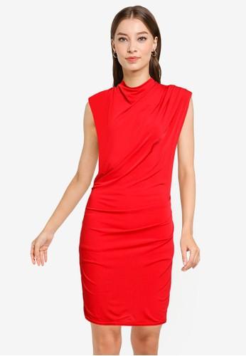 Goddiva red High Collar Mini Dress 28E07AABE00C73GS_1