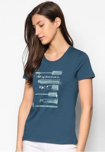圖文設計T 恤, 服飾,esprit門市地址 上衣