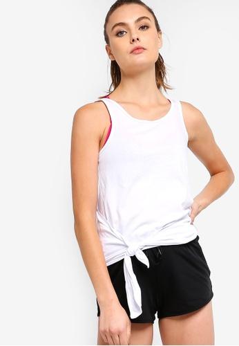 Cotton On Body white Wrap Back Tank Top 1D662AA4C4B98EGS_1