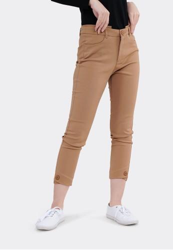 FLIES brown FLIES Celana Bahan Trousers I31000007F Coklat 662B4AA1B1AB4BGS_1