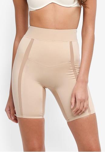 Calvin Klein beige Thigh Shaper Short Panties - Calvin Klein Underwear 07AB4USAC96FACGS_1