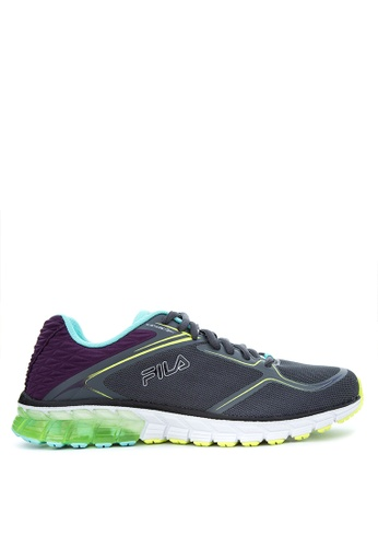 fila energized. fila grey and green coronation 360 energized sneakers fi683sh73aviph_1 r