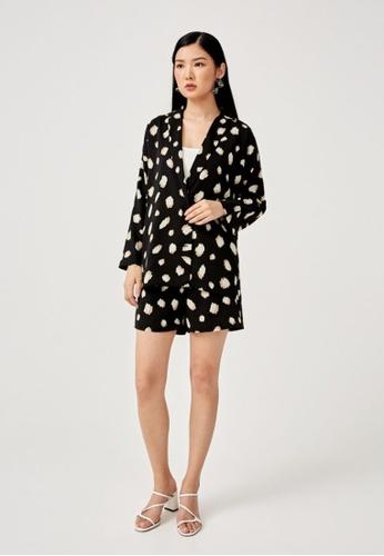 Love, Bonito black Dulcie Button Front Blazer 0261CAAE0B23ECGS_1