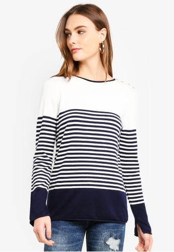 OVS navy Striped Pattern Pullover FD73FAACDC1FAAGS_1