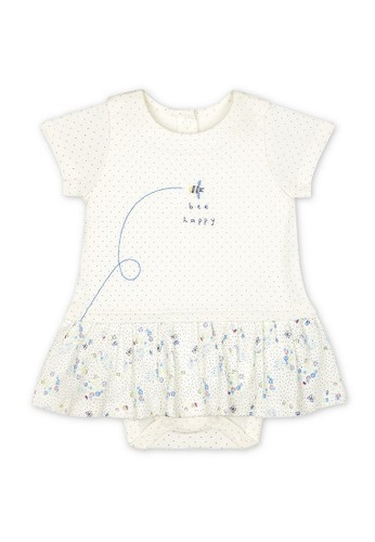 Mothercare white Mothercare Baby white bee happy floral romper dress - Terusan Bayi Multicolour 8DC23KA43407D6GS_1