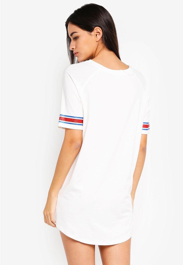 Beige Dress Shirt 6IXTY8IGHT Simple' T Life Slogan 'Keep fq0xFOwUvq