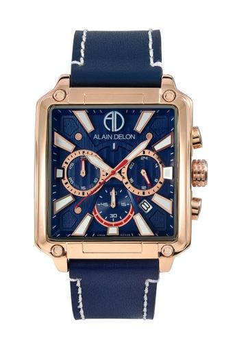 Alain Delon blue Alain Delon Men Chronograph Watch AD458-1582C 70A64AC4CEF8D2GS_1