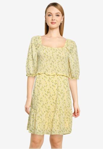 ONLY yellow Pella Smock Dress 9F03BAA0AA346EGS_1