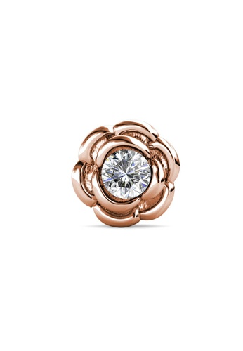 Her Jewellery gold Petunia Brooch (April, Rose Gold) - Made with Premium grade crystals from Austria 866A0AC15CB9C5GS_1
