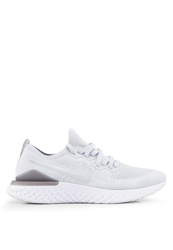 Nike grey Nike Epic React Flyknit 2 Shoes FD83CSH14A5740GS_1