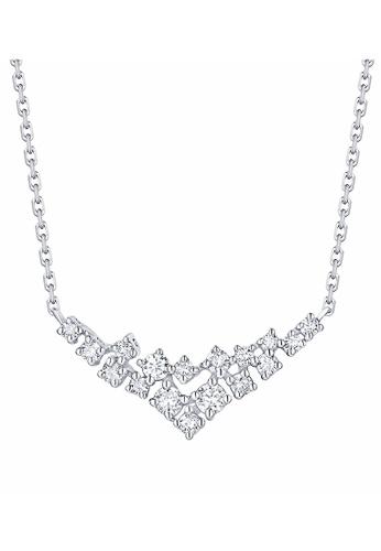 Smiling Rocks white 10K White Gold 0.27ct Lab Grown Diamond Drizzle Necklace FD562AC5C04DCCGS_1