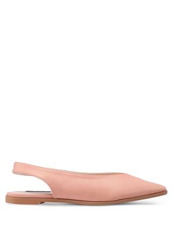 ZALORA pink V-Cut Classic Flats 32746SH05A9853GS_1