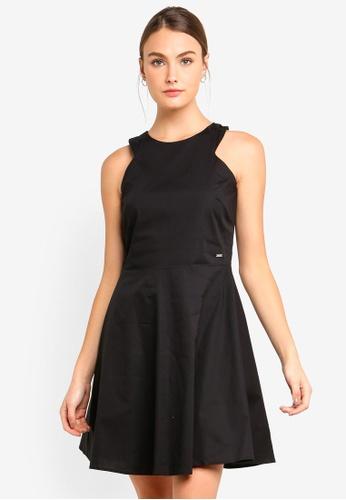 Armani Exchange black Orange Zip Sleevless Dress F751EAA77F30F7GS_1