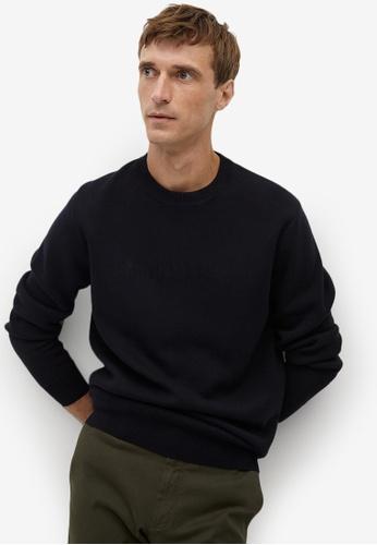 Mango Man black Logo Cotton Sweatshirt 6D402AAD58A178GS_1