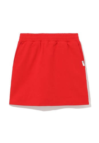 :CHOCOOLATE red Logo tape skorts A4031AAD8169F3GS_1