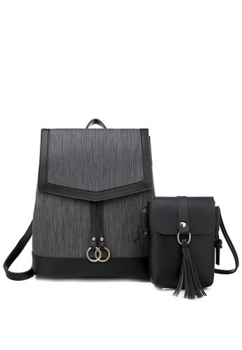 Twenty Eight Shoes black Faux Leather Fashionable Backpack 865 4F672ACF3EDC43GS_1