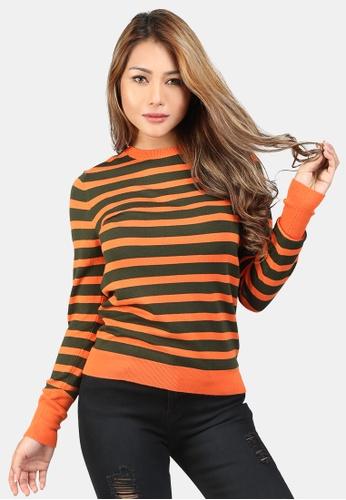 London Rag orange Light Weight Pullover Sweater E1D1AAAF1B7B0DGS_1
