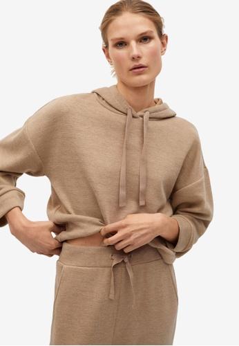Mango grey Flecked Oversize Sweatshirt 0B0BBAA5C0598DGS_1