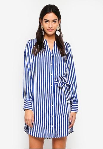 Vero Moda blue Bloom Shirt Dress F8BE5AA52D3952GS_1