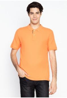 bbcc9444 DEBENHAMS orange Maine New England - Contrast Placket Polo Shirt  5C9BBAADA5E1B8GS_1