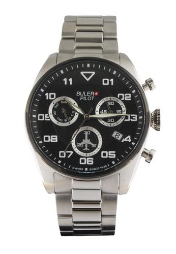 Buler black and silver Buler Sport Watch - Black - Gents - Date - 6H BU689AC2VG1IHK_1