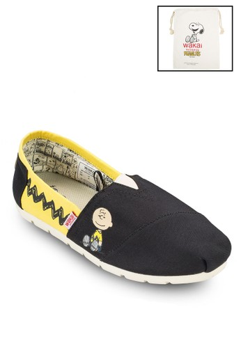 CBZzalora開箱IGZAG 圖案拼色帆布懶人鞋, 女鞋, 鞋