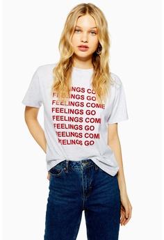 5594b226f62 TOPSHOP grey Petite  Feelings Come  T-Shirt CA2C7AA43236FBGS 1