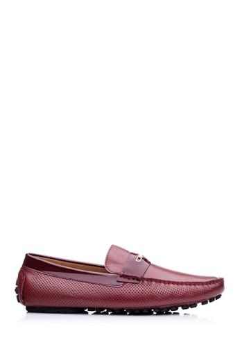 BONIA red Men Maroon Brush-Off Driving Shoes BB688SH47BD55AGS_1