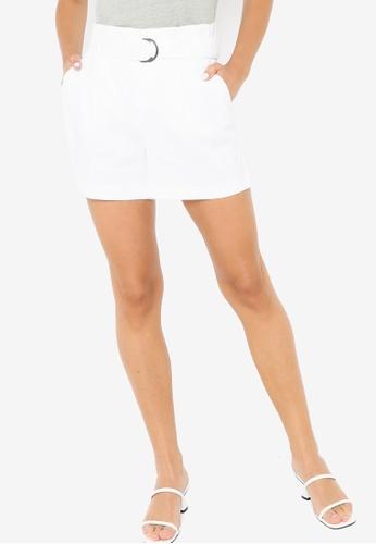 Banana Republic white D-Ring Linen Shorts AF7A9AA5535342GS_1