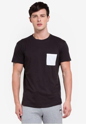 OVS 黑色 口袋T恤 99656AA7864241GS_1