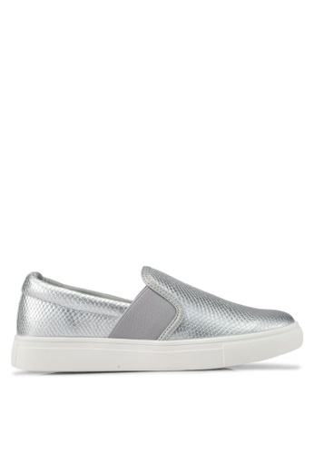 addicts anonymous silver Sophia Texture Trendy Slip Ons AD479SH0SR5MMY_1