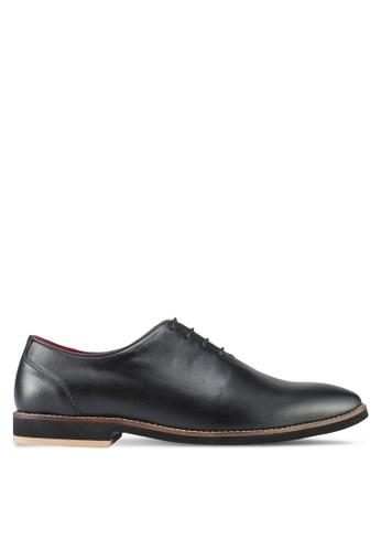 Acuto black Leather Shoes AC283SH0SL68MY_1