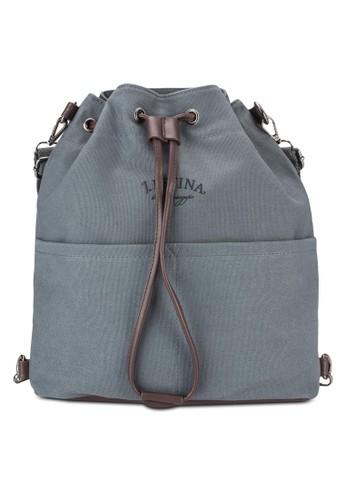 兩用帆布水桶包、 包、 包Bagstationz兩用帆布水桶包最新折價
