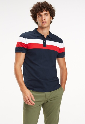 f2b788566 Shop Tommy Hilfiger Chest Stripe Polo Shirt Online on ZALORA Philippines
