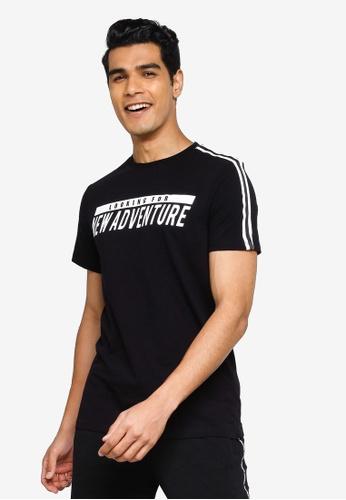 KOTON black New Adventure T-Shirt 377C1AA62D2CC0GS_1