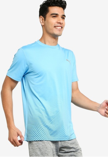 Puma blue Last Lap Graphic Running Tee B1042AA193BE95GS_1