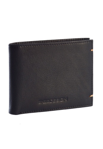 ENZODESIGN black and brown Ultra Soft Cow Leather Wallet (With Removable Card Holder) EN115AC64ZTVPH_1